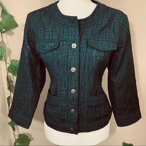 Retro Vintage 1950's Ruby Rd Green Jacket